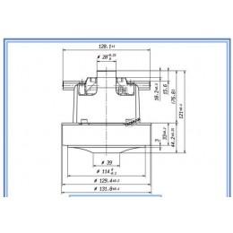Двигатель (мотор) пылесоса Karcher Philips Moulinex E 063200380 1400W